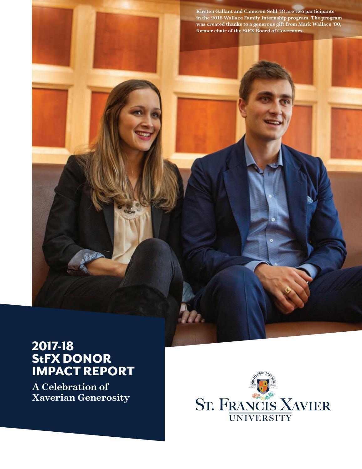 54ed3850b7 2017-18 StFX Donor Impact Report by Stfx University - issuu