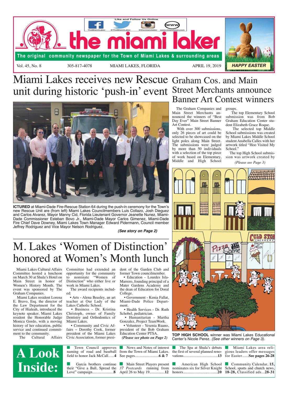 The Miami Laker, April 19, 2019 by MiamiLaker - issuu