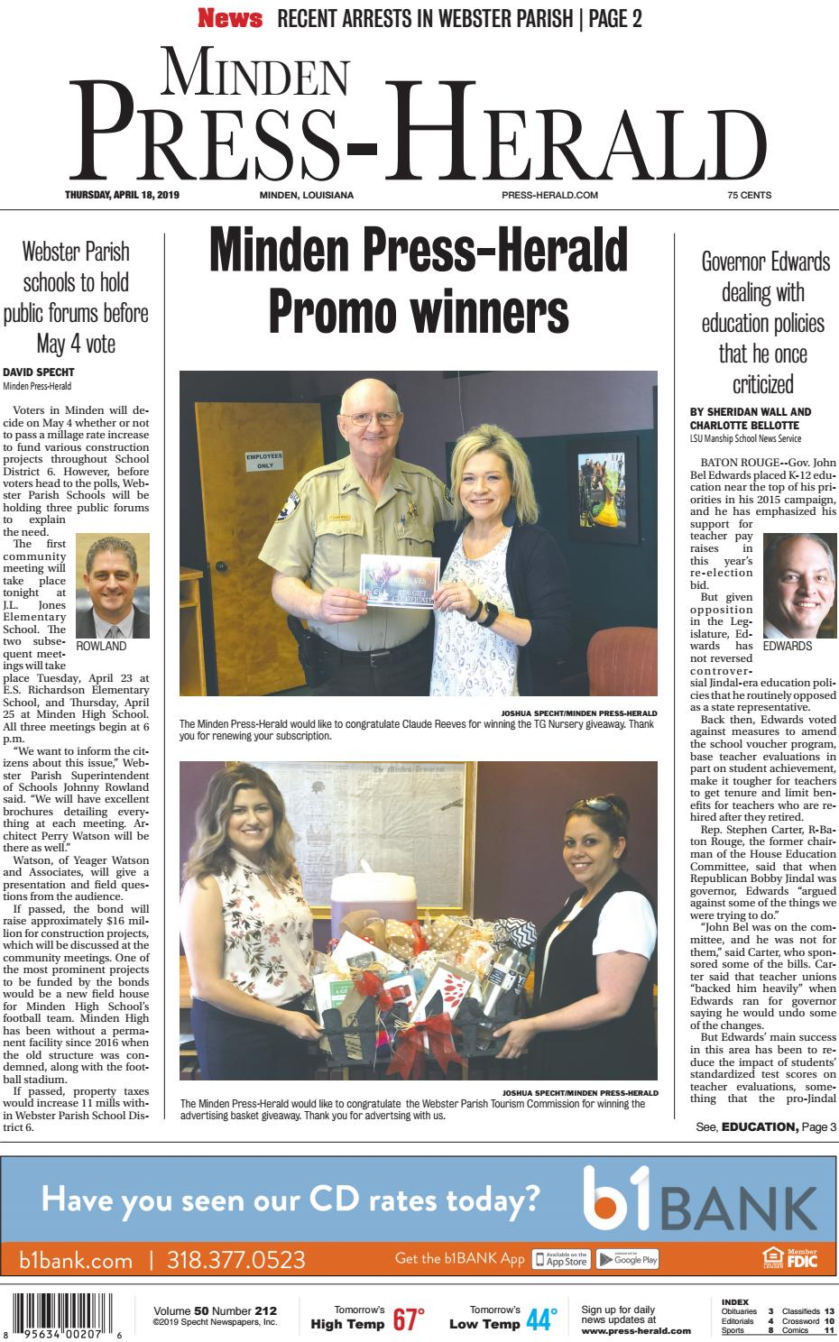 04-18-2019 Minden Press-Herald e-Edition by Minden Press