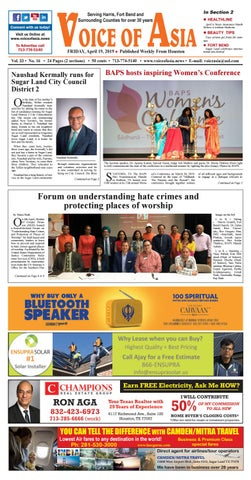 9e61c396 Voice of Asia E-paper April 19, 2019 by VoiceOf Asia - issuu
