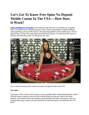 Online Casino Real Money No Deposit Bonus In The Usa By