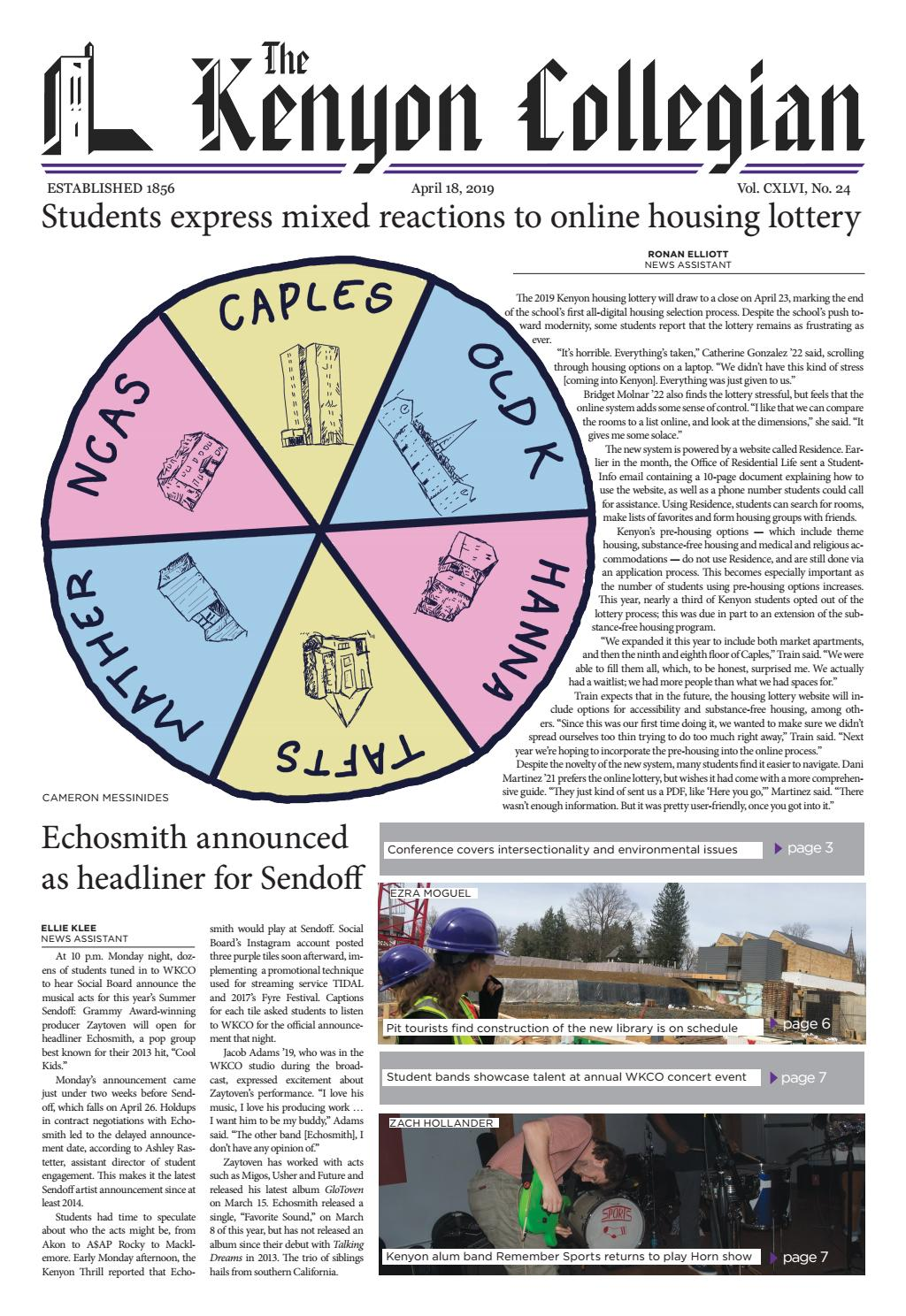 4 18 19 by The Kenyon Collegian - issuu