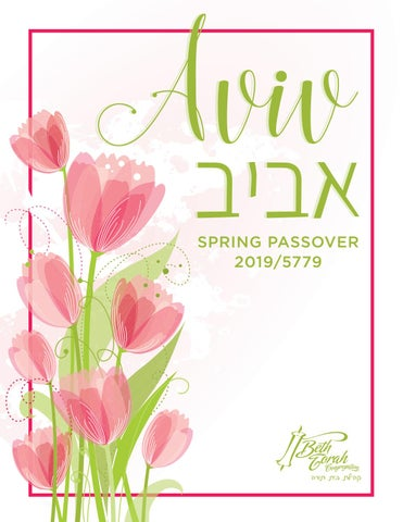 Passover Bulletin 2019 by Beth Torah Congregation - issuu