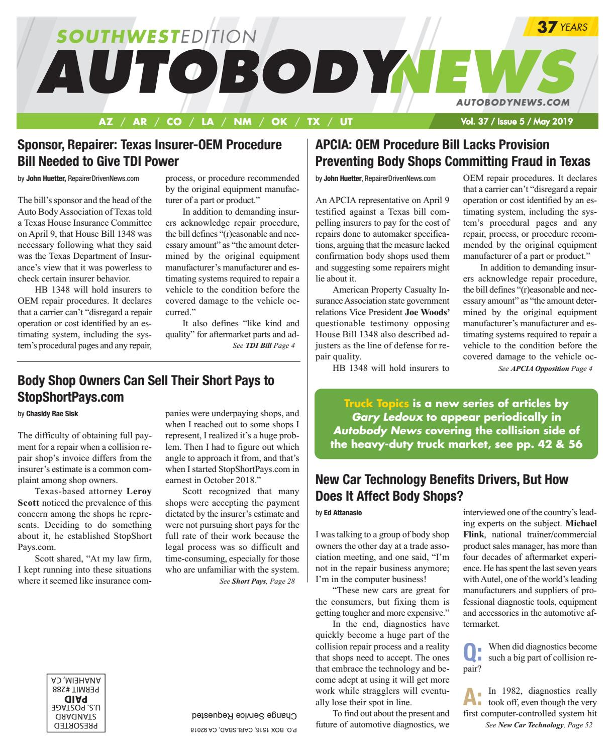 May 2019 Southwest Edition by Autobody News - issuu