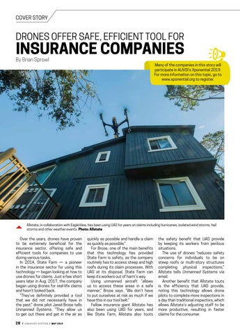 Page 32 of Cover story: Drones offer safe, efficient tool for insurance companies