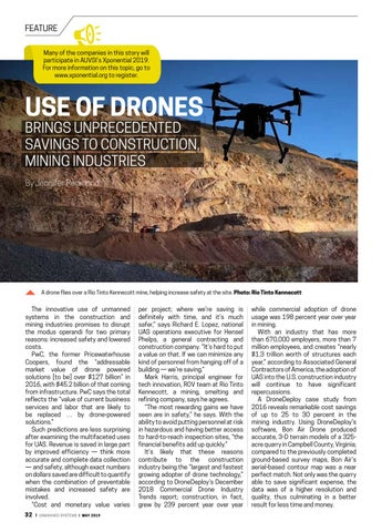 Page 36 of Use of drones brings unprecedented savings to construction, mining industries