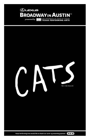 61c2a5bb9 Cats Program by Texas Performing Arts - issuu