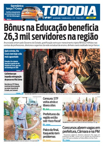 2b64d0bcb Jornal TodoDia - Edição 19 04 by Jornal TodoDia - issuu