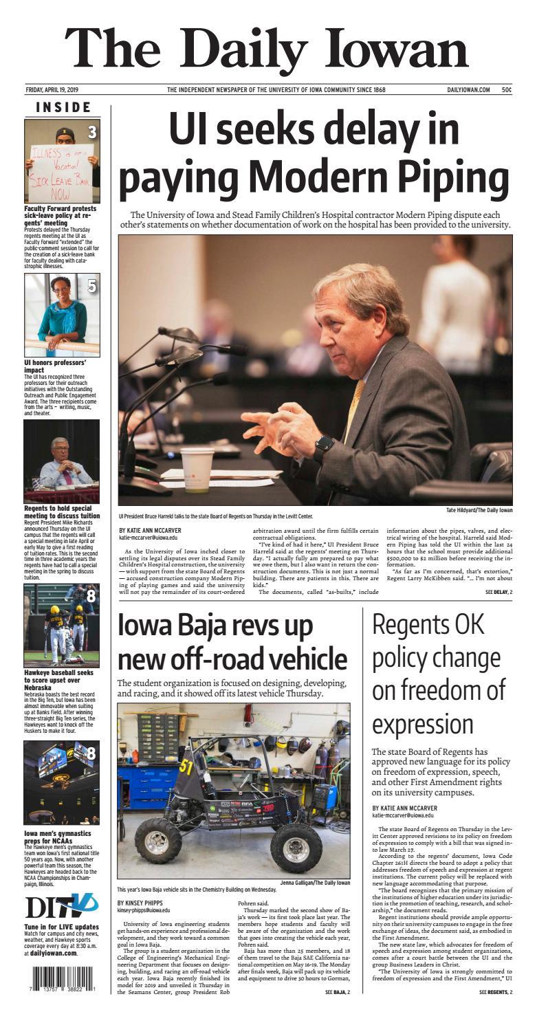 The Daily Iowan - 04 19 19 by The Daily Iowan - issuu