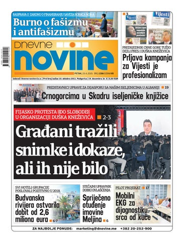 Dnevne novine 19  april 2019  by Dnevne Novine - issuu