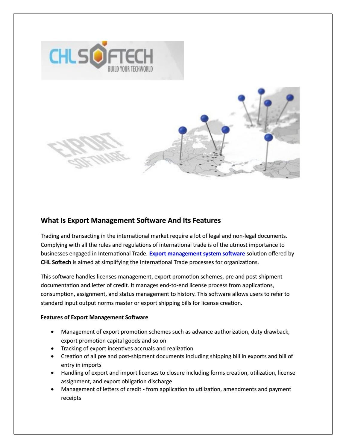 What Is Export Management Software And Its Features by
