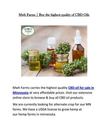Growing hemp for cbd and biomass by MWH Farms - issuu