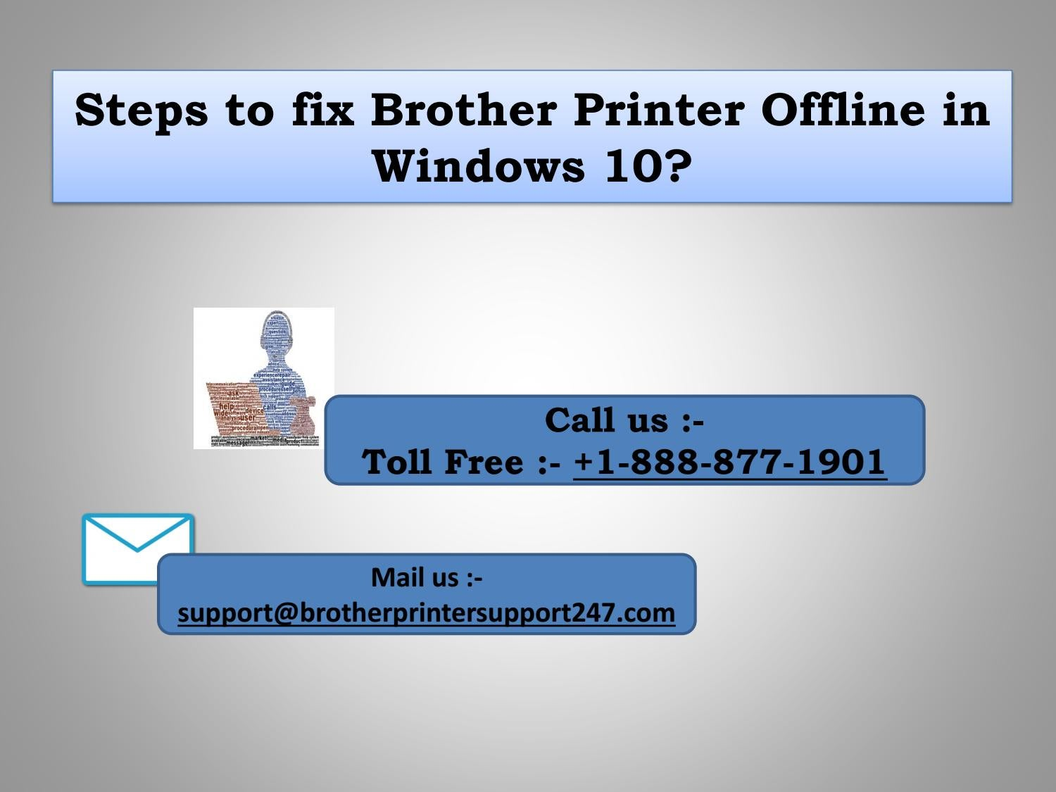 How to fix Brother Printer Offline in Windows 10? by