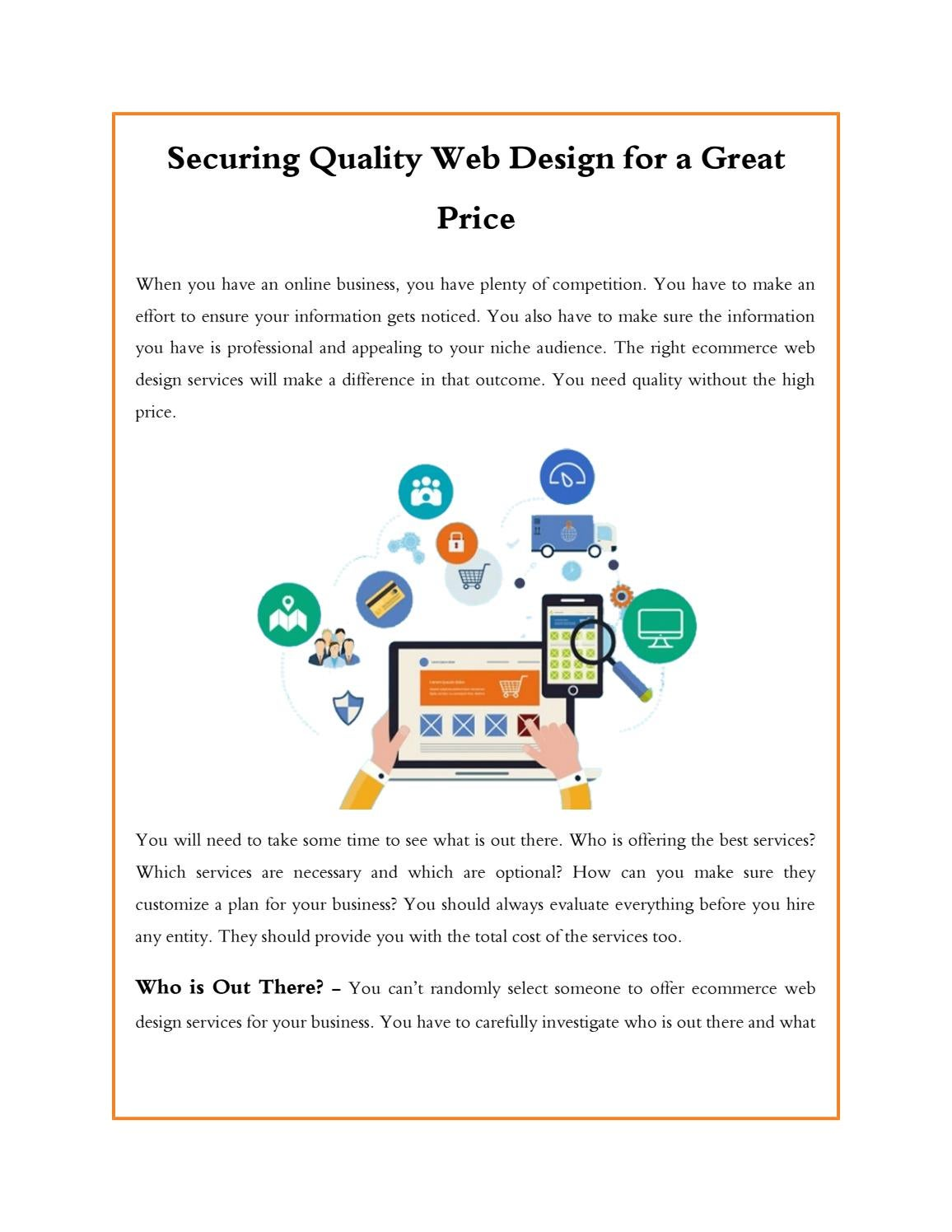 Securing Quality Web Design For A Great Price By Kingslunuk Issuu