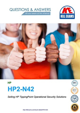 Kill your HP2-N42 exam at first try with our HP2-N42 dumps