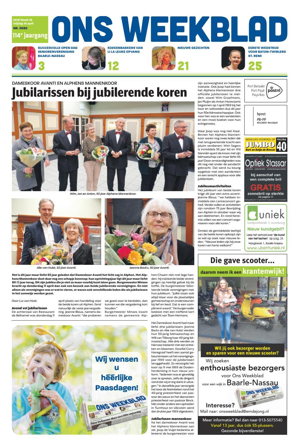 3212f68c12abff Ons Weekblad 19-04-2019 by Uitgeverij Em de Jong - issuu