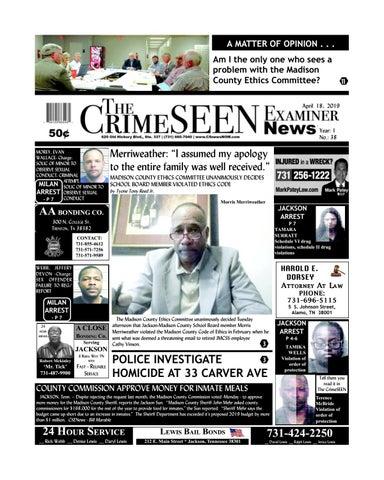 The CrimeSEEN Examiner News April 18, 2019 by CrimeSEEN