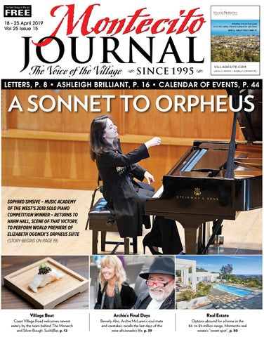 A SONNET TO ORPHEUS by Montecito Journal - issuu