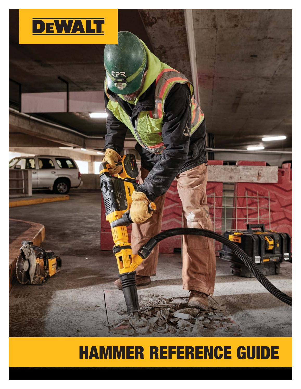 DEWALT Hammer Reference Guide by Ram Tool Construction