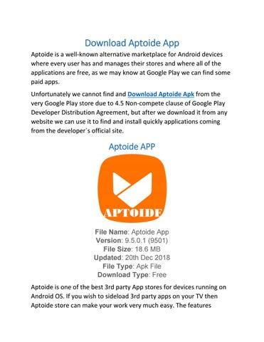 Aptoide App by aptoidesapk41 - issuu