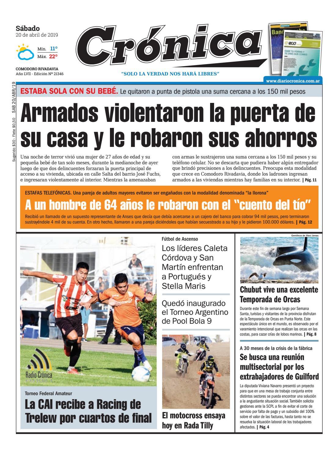 e5fbfd21008 Diario cronica 20 04 2019 by Diario Crónica - issuu