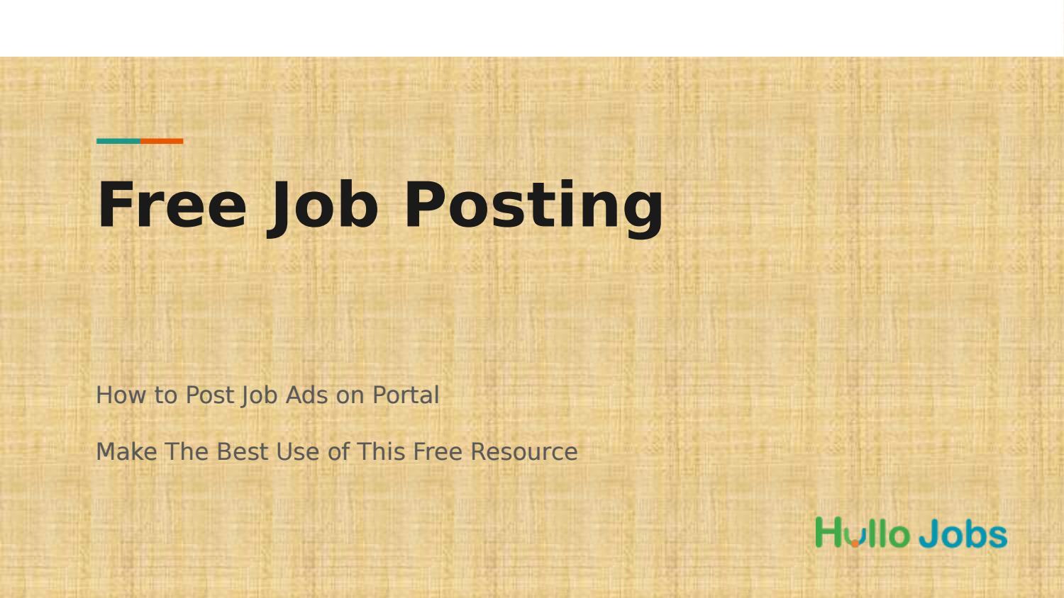 where to post job ads for free