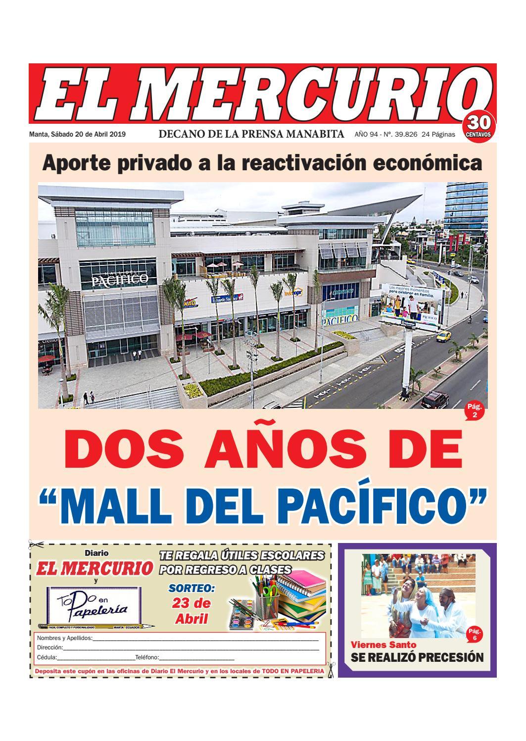 18f56c26 SÁBADO 20 ABRIL 2019 by Diario El mercurio - issuu