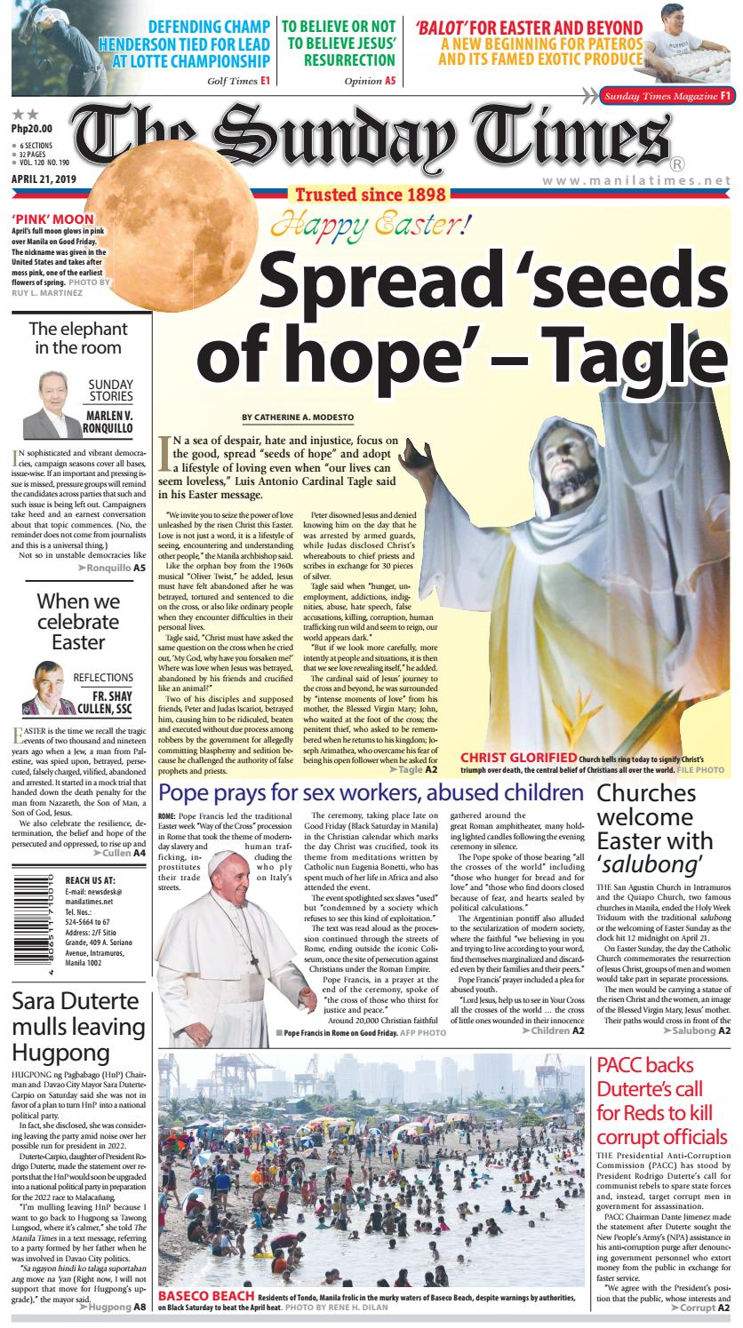 The Manila Times | April 21, 2019 by The Manila Times - issuu