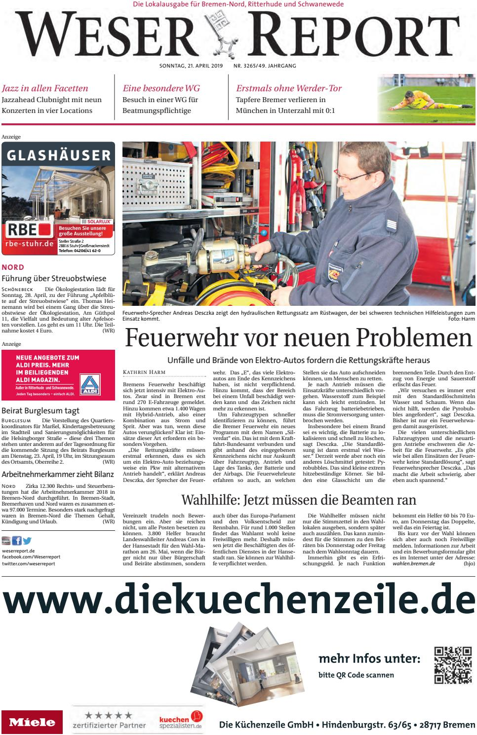 Weser Report Nord vom 21.04.2019 by KPS