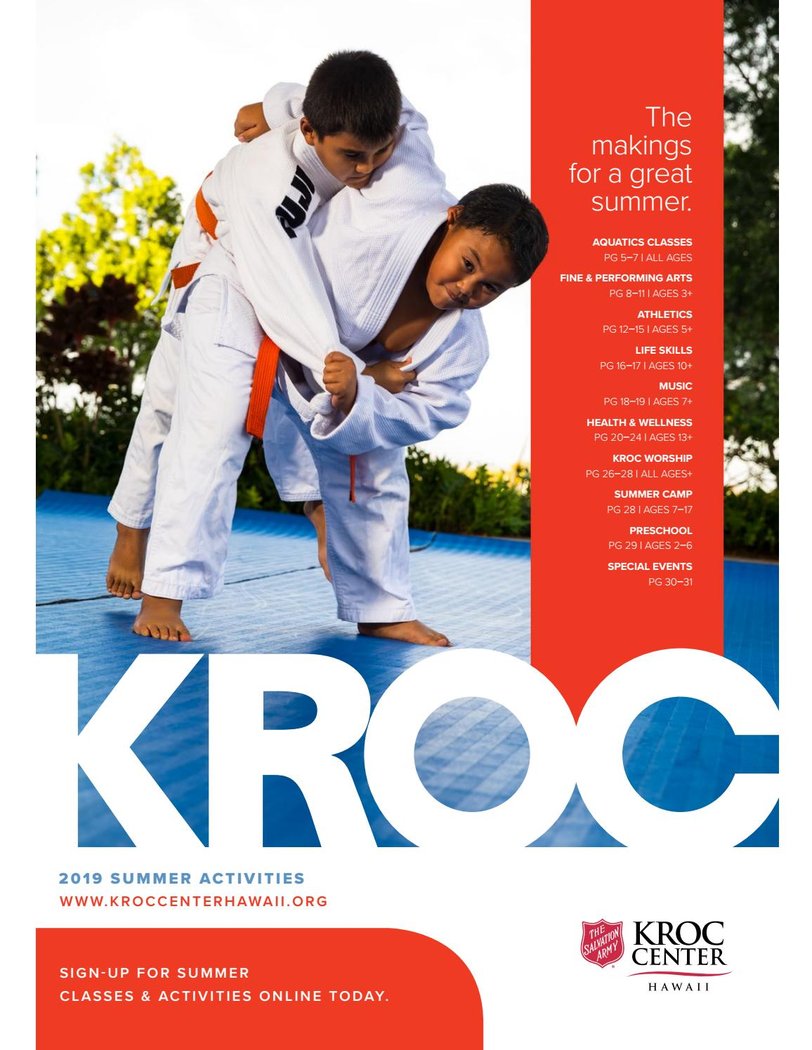 2019 Kroc Center Hawaii Summer Activity Guide by Kroc Center