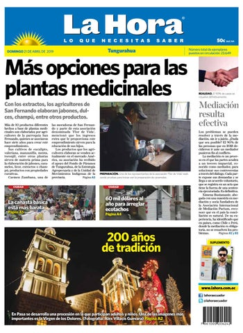 Tungurahua 21 de abril de 2019 by Diario La Hora Ecuador - issuu