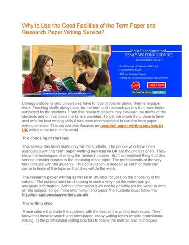 custom term paper writer websites for college