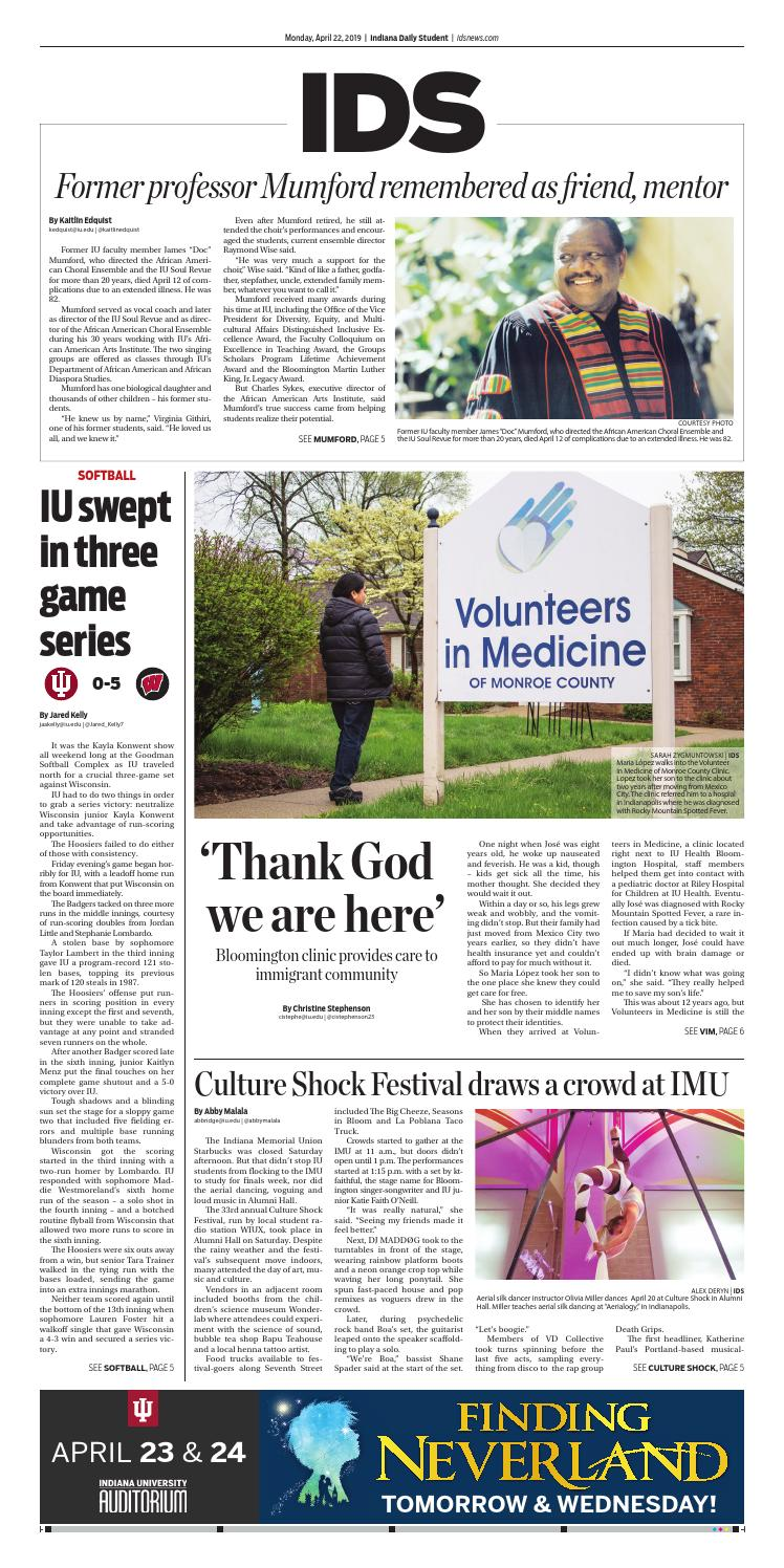 Monday, April 22, 2019 by Indiana Daily Student - idsnews - issuu