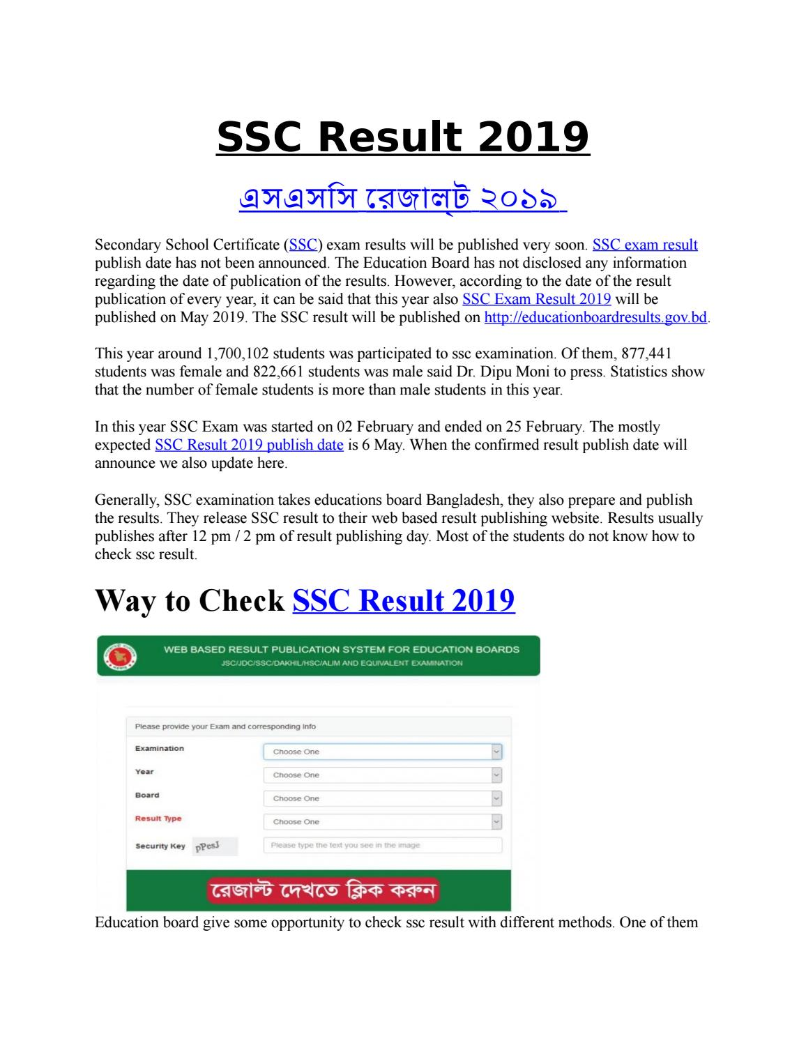 BD SSC Exam Result 2019 With Marksheet by Asif Alam - issuu