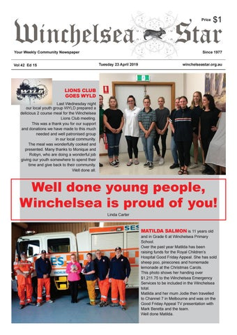 7f5c20c03ce Winchelsea Star 23 April 2019 Vol 42 Ed 15 by The Winchelsea Star ...