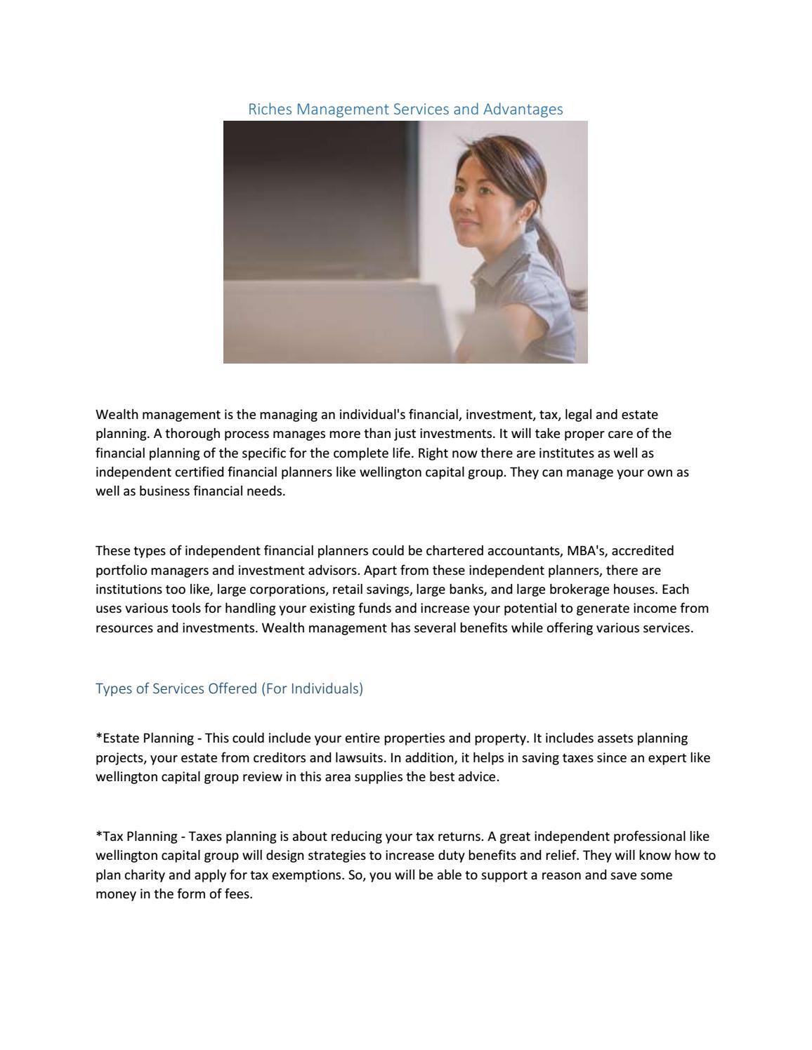 Wellington capital group review by wellingtoncapitalgroup - issuu