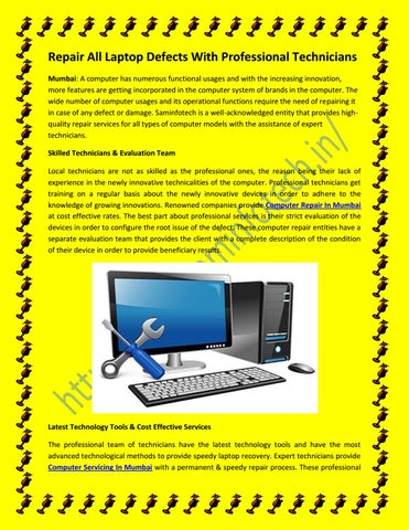 Repair All Computer Defects With Professional Technicians in