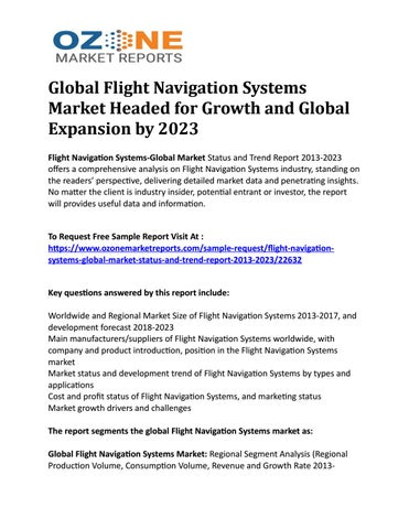 Global Flight Navigation Systems Market Headed for Growth