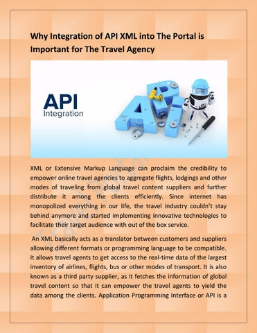 Why Integration of API XML into The Portal is Important for