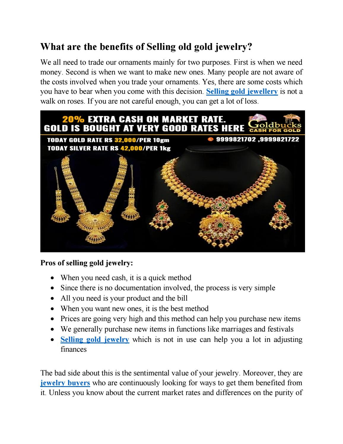 What are the benefits of Selling old gold jewelry? by Gold