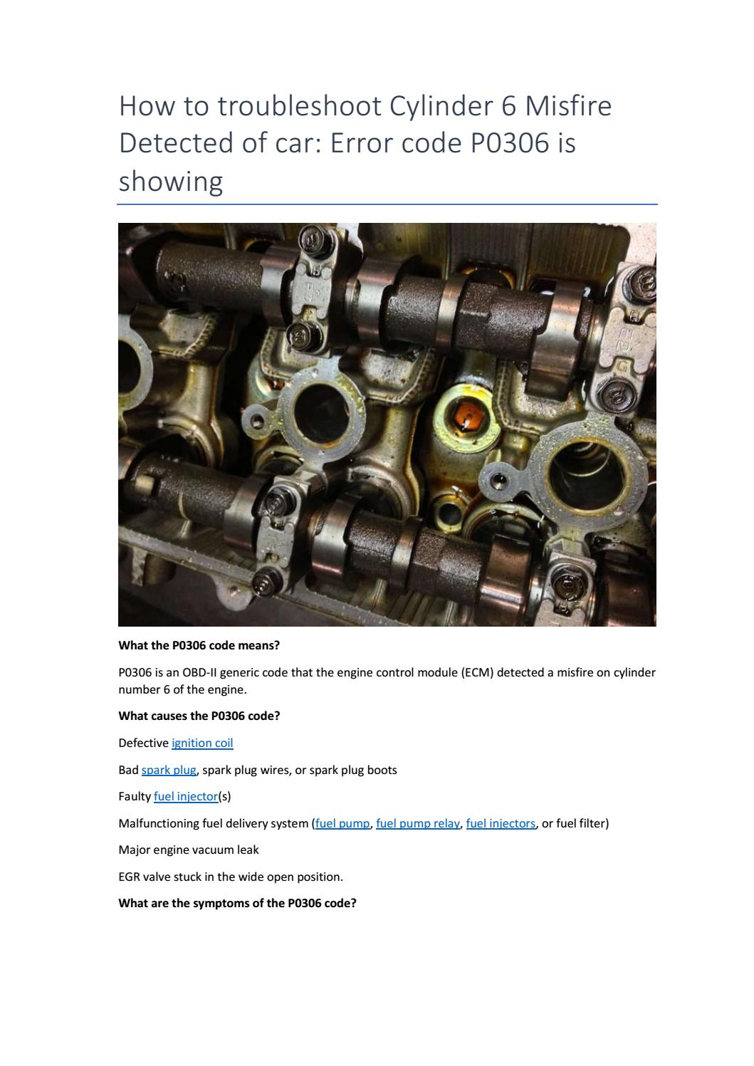 Partsavatar Canada How To Troubleshoot Cylinder 6 Misfire By Partsavatar Tr Issuu