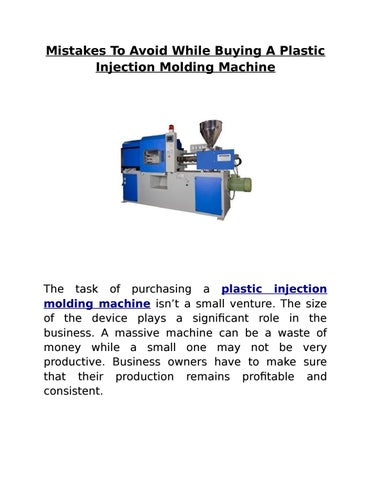 Mistakes To Avoid While Buying A Plastic Injection Molding