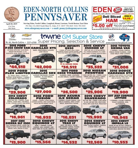Eden- North Collins Pennysaver 4-20-19 by Eden- North Collins