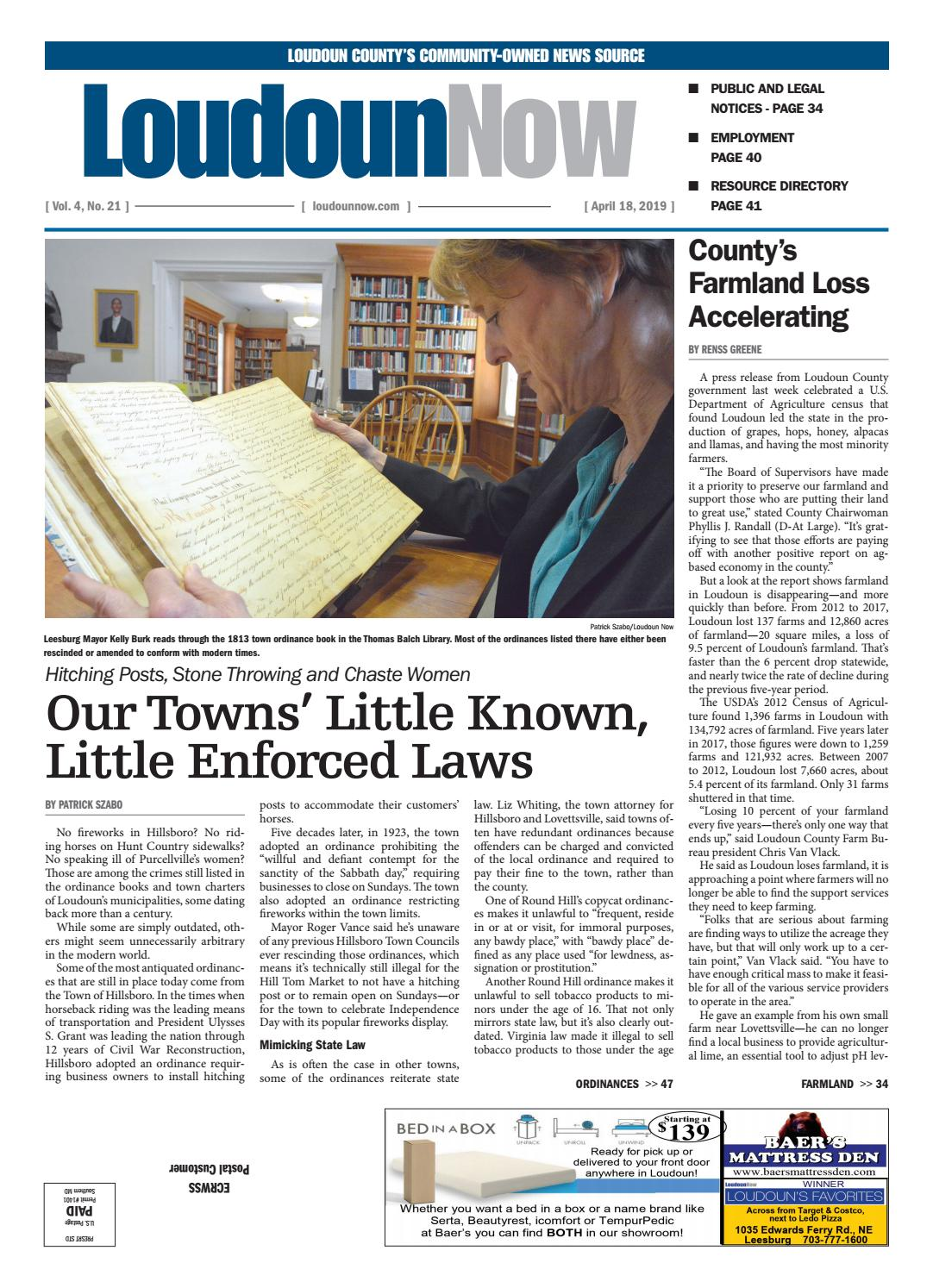 Loudoun Now for April 18, 2019 by Loudoun Now - issuu