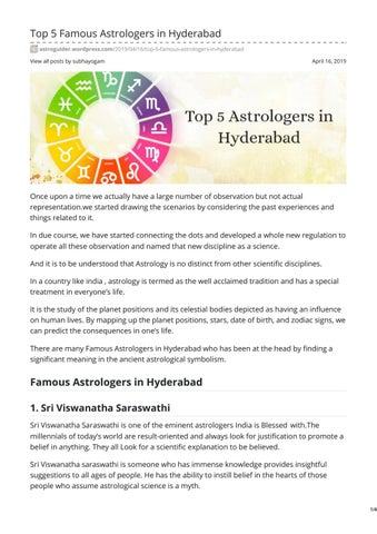 Top 5 Famous Astrologers in Hyderabad by vn_Naina - issuu