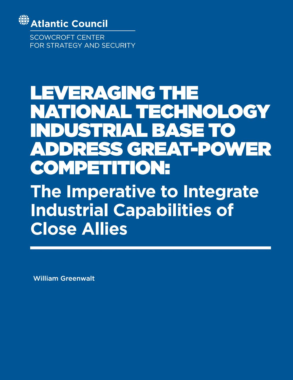Leveraging the National Technology Industrial Base to