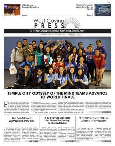 West Covina Press - 04/22/2019 by Beacon Media News - issuu