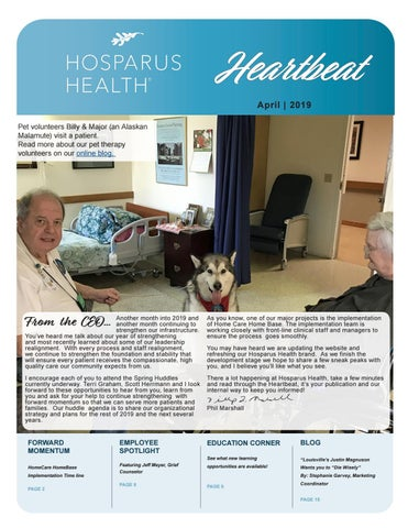 Heartbeat April 2019 by Hosparus Health - issuu