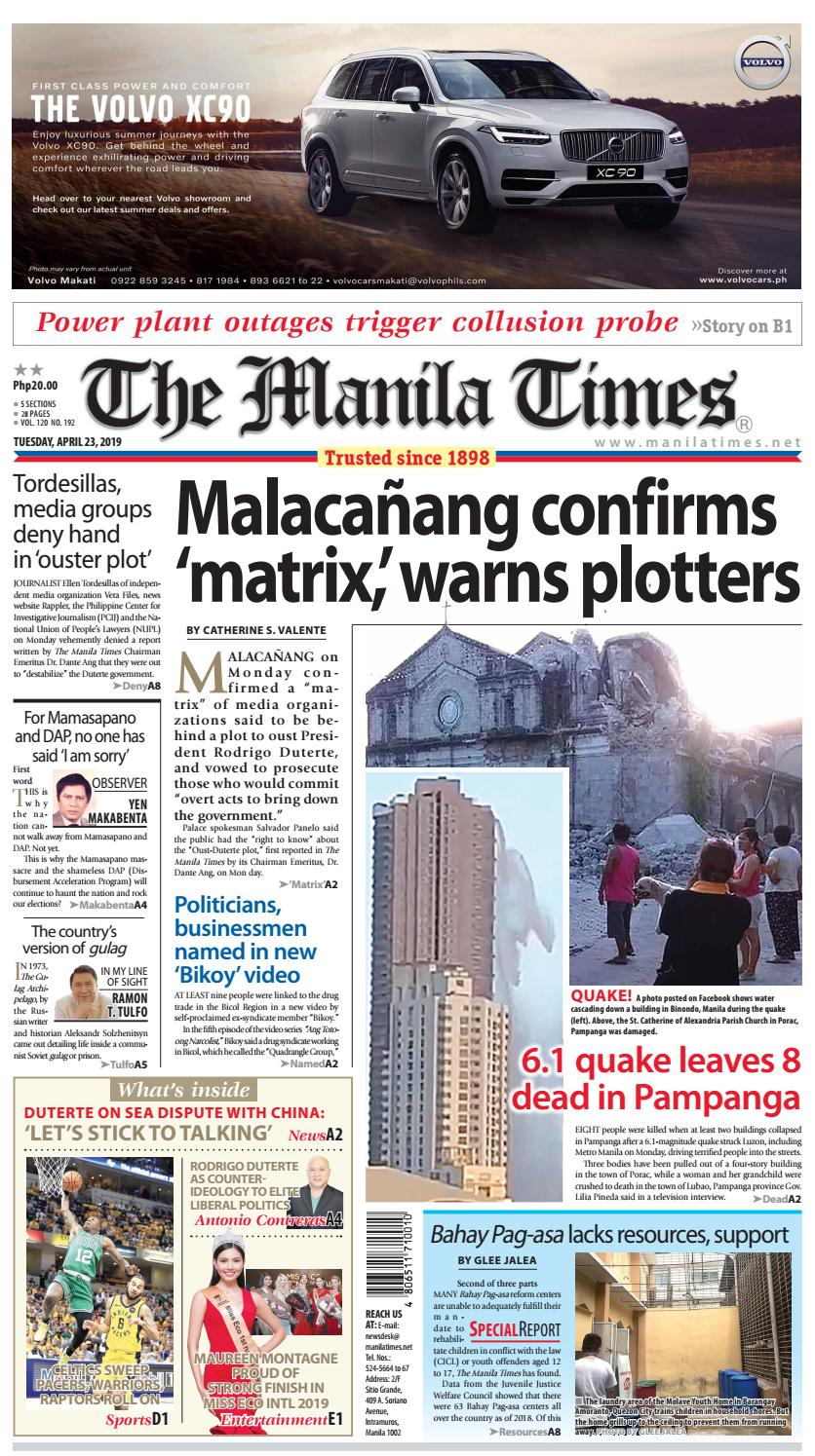 THE MANILA TIMES | APRIL 23, 2019 by The Manila Times - issuu