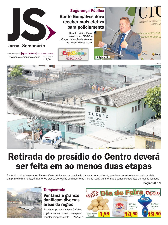 7ea9fb40fe Jornal Semanário – 17 de abril de 2019 – ano 52 – nº 3532 by Jornal  Semanário - Bento Gonçalves - RS - issuu